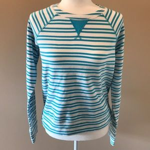 Lululemon Spry Blue Twin striped Voyager pullover